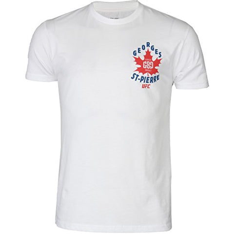 UFC GSP Red Maple Leaf Shirt - White - Large
