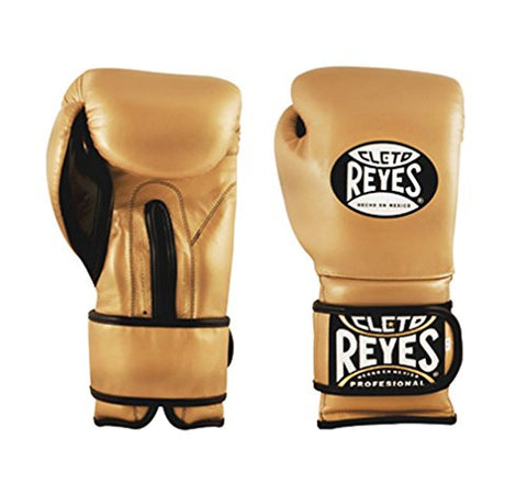 Cleto Reyes Hook & Loop Training Gloves (Solid Gold, 14 Ounce)
