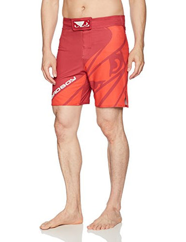 Bad Boy Men's Velocity Fight Shorts, Red, Medium