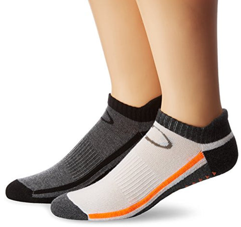 Copper Fit Unisex-Adults Low Cut Gripper Socks-2 Pack, Gray/Black/White/Gray, Large/X-Large