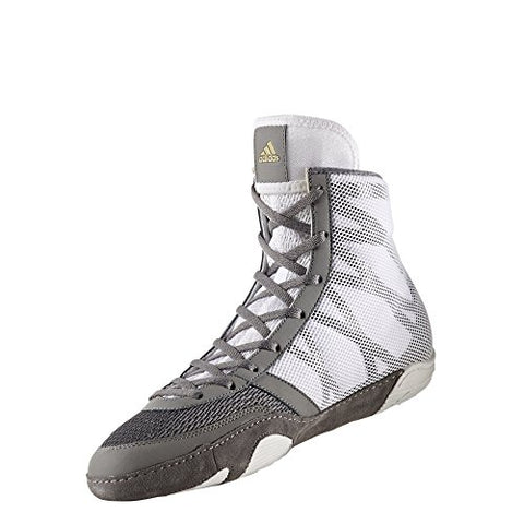 online retailer fef8c 770a6 adidas Pretereo III Mens Wrestling Shoes, GreyGoldWhite, Size 10.5