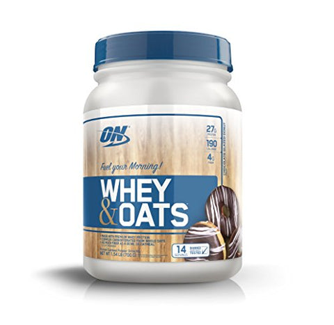 Optimum Nutrition On Whey & Oats Protein Powder with 14 Servings,Chocolate Glazed Donut