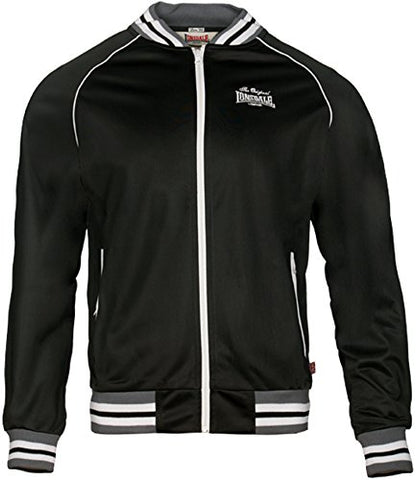 Lonsdale Men´s Slim-fit Fleece Lined Training Jacket (Small (S)) Black