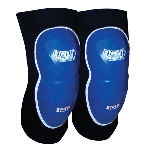 Combat Sports MMA Advanced Imf Tech Striking Elbow Pads (Blue-Black, Regular)