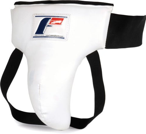 Fighting Sports Groin & Ab Protector, White/Black, Medium