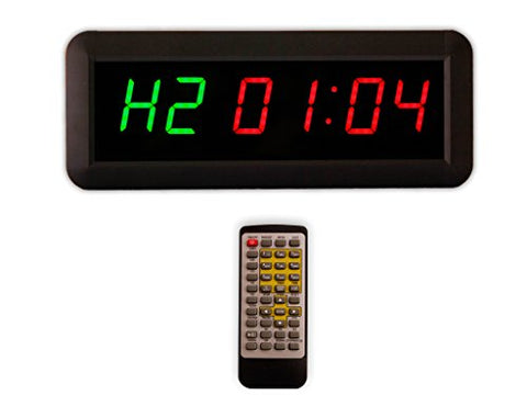 "Eu 1.5"" 6 Digits Interval Timer Programmable Led Countdown / Up Stopwatch For Home Gym."