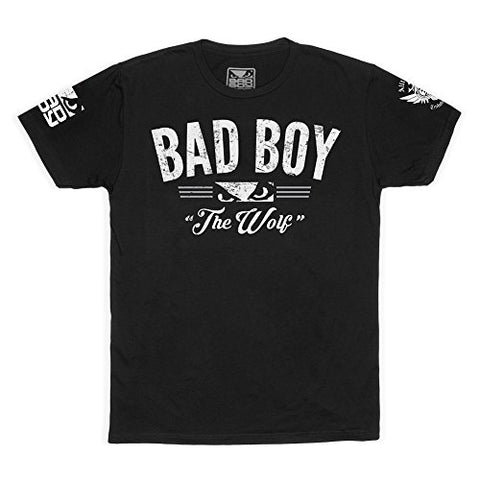 "BAD BOY Caldwell ""The Wolf"" T-shirt - Black - Small"