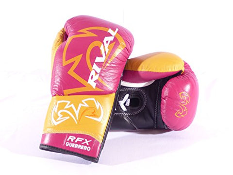 Rival Boxing-RFX Guerrero Pro Fight Gloves-Maroon/Mustard-8oz