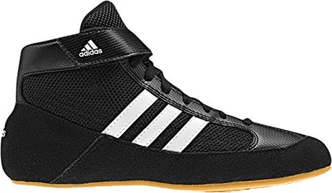 Adidas HVC Wrestling Shoes - Black/White-10