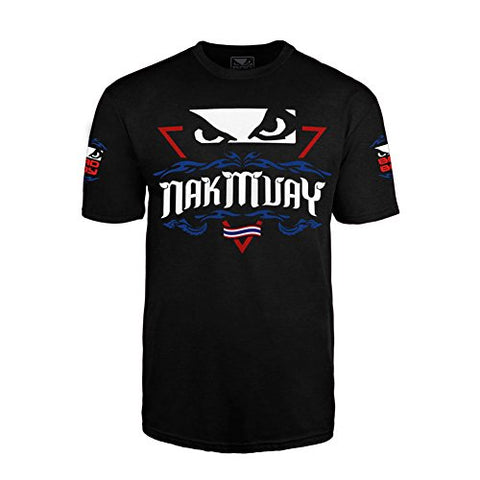 Bad Boy Men's Nak Muay Thai Tee Shirt Black Medium