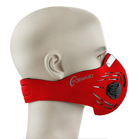 CFORWARD Dustproof Mask Activated Carbon Filtration Exhaust Gas Anti Pollen Allergy PM2.8 Face Mask for Running Cycling and Other Outdoor Activities(591RE)