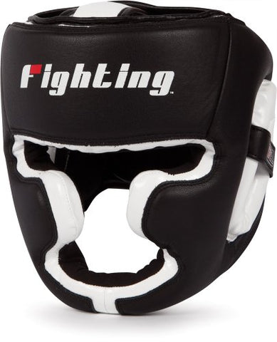 Fighting Sports S2 Gel Full Training Headgear, Black/White, Regular