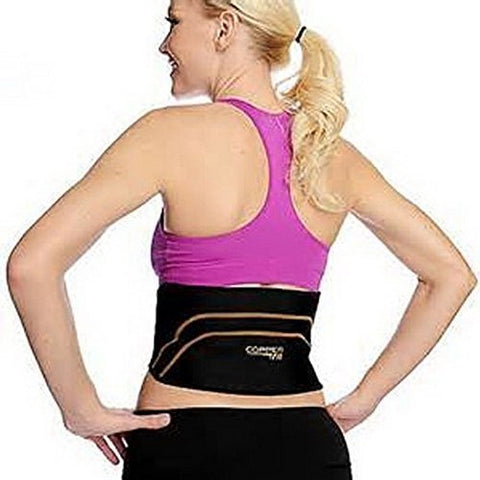 "Copper Fit Back Pro As Seen On TV Compression Lower Back Support Belt Lumbar (Small/Medium Waist 28""-39"")"