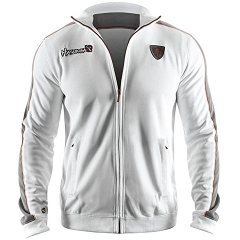 Hayabusa Track Jacket, White/Black, Large