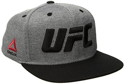 UFC Adult Unisex High Boxy Structuctured Adjustable Hat, One Size, Gray