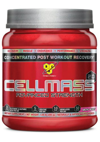BSN CELLMASS 2.0 - Arctic Berry, 1.09 lb (50 Servings)