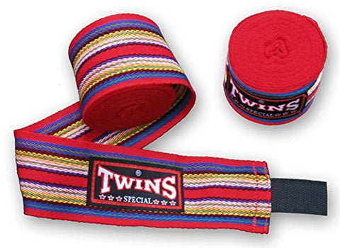 Twins Special Rainbow Hand wraps Protector CH-2 (Red)