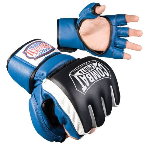 Combat Sports Safety MMA Sparring Gloves (Blue, Regular)