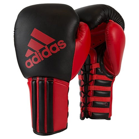 Adidas Super Pro Sparring Gloves (Lace), Black/Red, 16 oz