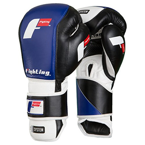 Fighting Sports S2 Gel Fierce Training Gloves, Black/White, 18 oz