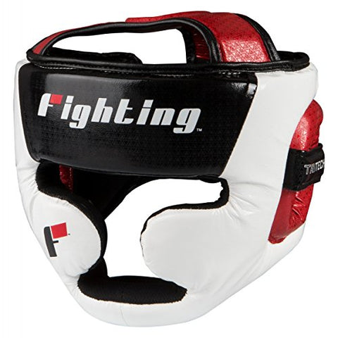 Fighting Sports Tri-Tech Fascinate Full Headgear, Black/White/Red, Regular