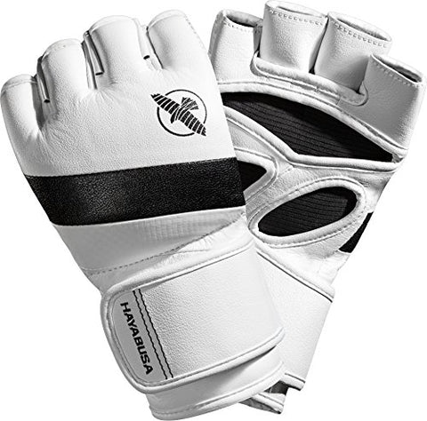 Hayabusa T3 MMA 4oz Gloves (Large, White/Black)