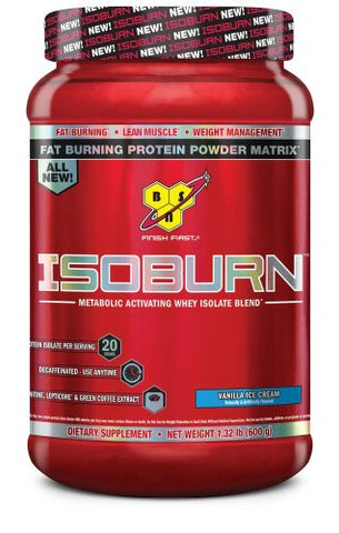 BSN ISOBURN Protein Powder - Vanilla ice cream 1.32 Pound