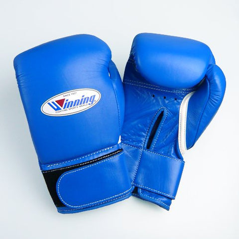 Winning Velcro Training Boxing Gloves 8oz (Blue)