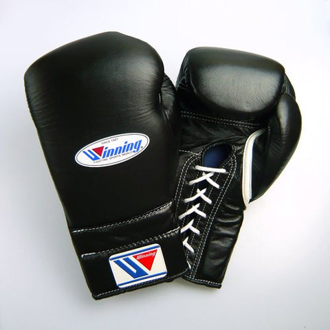 Winning Training Boxing Gloves 12oz (Black)