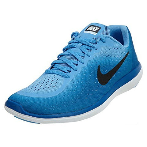 oben Nike Flex 2016 RN GS Run Black Blue Kids Youth Running