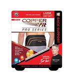 Copper Fit Pro Series Back Support with Hot/Cold Therapy, Black with Copper Trim, Small/Medium