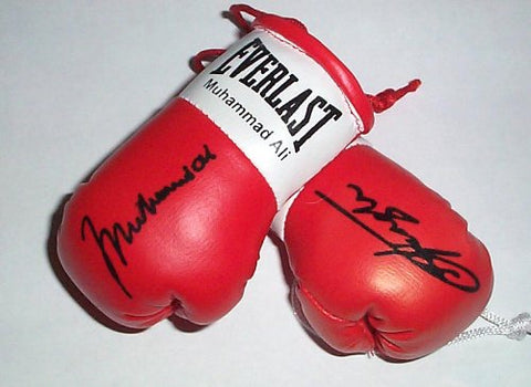 Autographed Mini boxing Gloves Muhammad Ali v Joe Frazier by Everlast