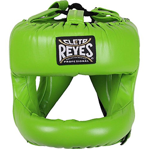 Cleto Reyes Redesigned Headgear with Nylon Face Bar (Citrus Green)