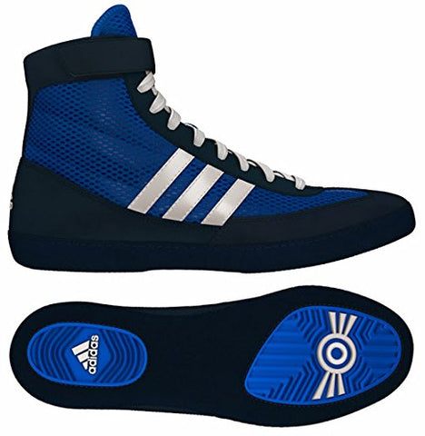 Adidas Combat Speed 4 Wrestling Shoes Royal/White/Navy Size 8.5