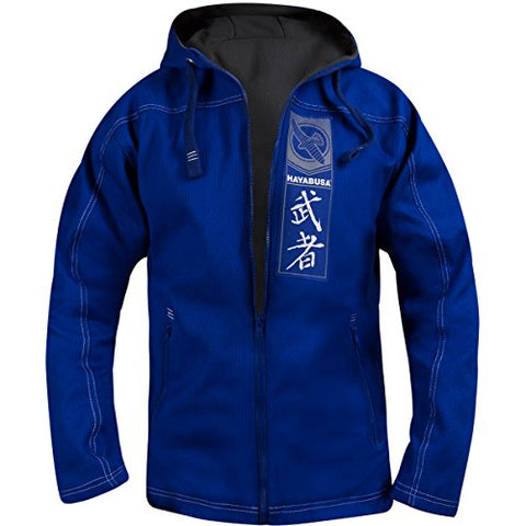 Hayabusa Uwagi Full Zip Hooded Gi Jacket - Small - Blue
