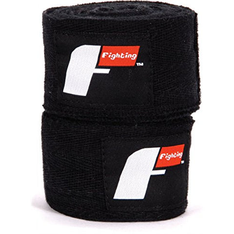 "Fighting Sports Pro Traditional Hand Wraps, Black, 2"" x 180"""
