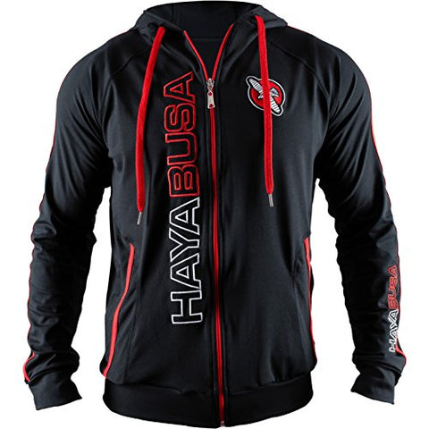 Hayabusa Cotton Prime Hoodie, Black/Red, Large