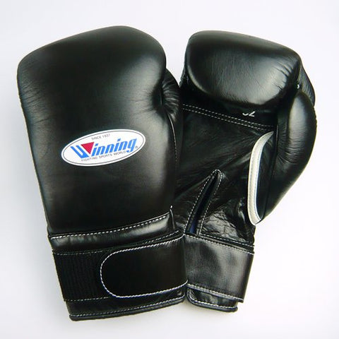 Winning Velcro Training Boxing Gloves 12oz (Black)