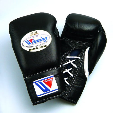 Winning Professional Boxing Gloves 10oz (Black)