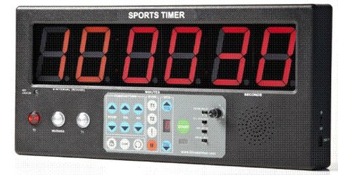 "Interval Workout Timer, Sports Timer BT-01 with 2"" LED digits for MMA, Fitness, Boxing."