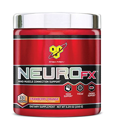 BSN Neuro FX 30 Servings, Cranberry Orange, 0.5 Pound