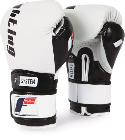 Fighting Sports S2 Gel Power Training Gloves, White/Black, 18 oz