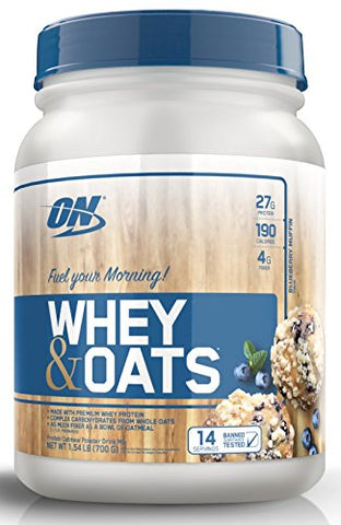 Optimum Nutrition On Whey & Oats Protein Powder with 14 Servings,Blueberry Muffin