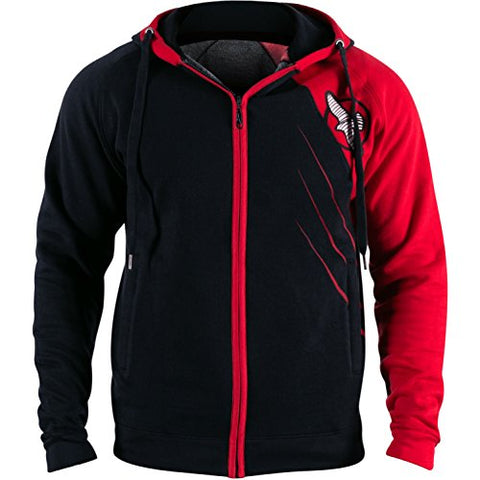 Hayabusa Cotton Recast Hoodie, Black/Red, Large