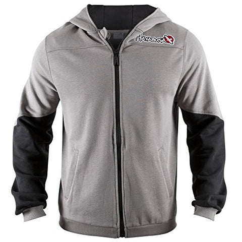 Hayabusa Cotton Wingback Hoodie, Grey/Black, Medium