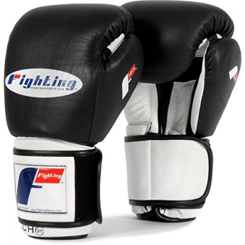 Fighting Sports Tri-Tech Bag/Sparring Gloves, Black/White, 16-Ounce