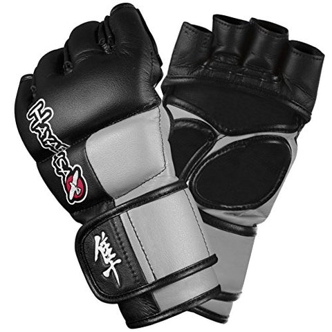 Hayabusa Tokushu 4oz MMA Gloves, Black/Slate Grey, X-Large