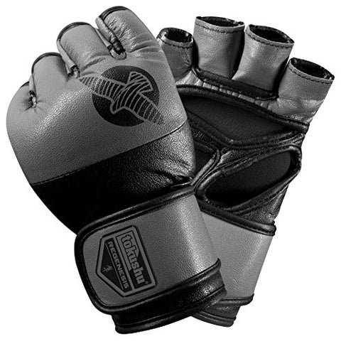 Hayabusa Tokushu Regenesis 4oz MMA Gloves, Black/Grey, Large