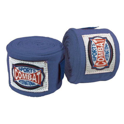 Combat Sports Semi-Elastic Handwraps (Blue)
