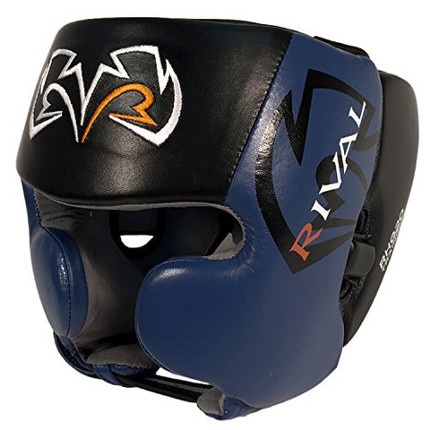 Rival Boxing Headgear-RHG20-Black & Blue Large